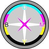 Compas dans CMYK Image stock
