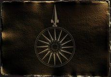Compas dans l'obscurité Images stock