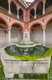 Compas de San Francisco fountain in Cordoba, Spain. Gothic renaissance temple remodeled in XVIII century in Baroque style stock photography