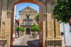 Compas de San Francisco, a small square and church in Cordoba, S. Pain, Europe royalty free stock images