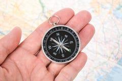 Compas et carte photo libre de droits