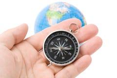 Compas et globe Images libres de droits