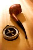 Compas et pipe photos libres de droits