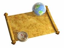 Compas et terre illustration stock