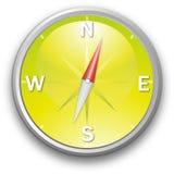 Compas jaune Photo stock