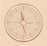 Compas in lijn getrokken stijl Stock Fotografie