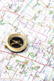 compas mapa zdjęcia stock