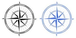 Compas s'est levé Image stock