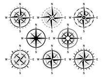Compas vastgesteld wit Royalty-vrije Stock Afbeelding