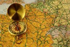 Compas y correspondencia Foto de archivo libre de regalías