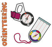 Compases del pulgar y de la placa de Imagen de archivo libre de regalías