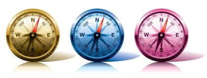 Compases en diversos colores Foto de archivo libre de regalías