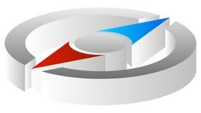 Compass значок для путешествия, задействуйте, путешествуйте, концепции наведения Стоковое фото RF