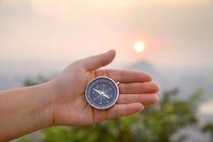 compass рука Стоковые Фото