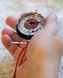 compass рука Стоковые Изображения RF