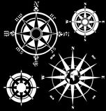 Compass. Vector illustration on black background Royalty Free Stock Photo