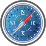 Compass. Highly detailed compass illustration on a white background Stock Photography