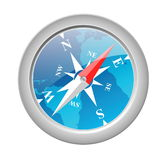 Compass. Object illustration Vector EPS Royalty Free Stock Images