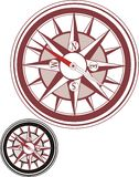 Compass. Illustration of compass. Two compasses in different colors Stock Photo