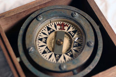 Compass. Used to navigate a ship Royalty Free Stock Photography