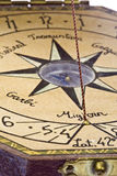 Compass. Detail of a navigation bar showing the compass Stock Images