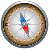 Compass. Determining direction with a compass Royalty Free Stock Photo