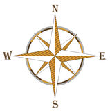 Compass. Vector compass in brown color Stock Photography