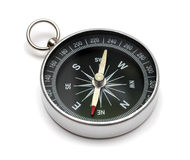 Compass. Lying on white background Stock Images