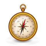 Compass. In the gold package Royalty Free Stock Image
