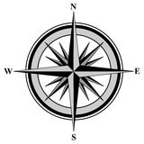 Compass. Illustration with north south east west