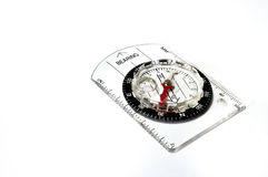 Compass. A still life isolated photo taken on a compass that points north Royalty Free Stock Photo