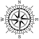 Compass. Illustration of a black compass Stock Photo