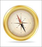 Compass. Vector image - old golden compass Stock Photos
