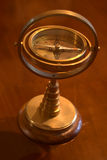 Compass. A brass ornamental compass royalty free stock photography