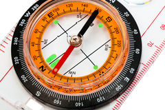 Compass. With a transparent ruler on a white background Stock Photography