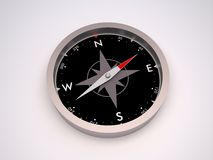 Compass. Simple metallic compass for exploration Royalty Free Stock Images