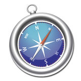Compass. Vector Illustration of Navigation Compass Royalty Free Stock Images