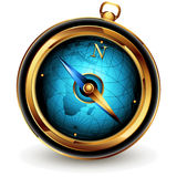 Compass. Graceful compass in the golden casing,  this  illustration may be useful  as designer work Royalty Free Stock Image