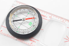 Compass. A magnetic compass for locating direction and bearings Stock Image