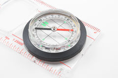 Compass. A magnetic compass for locating direction and bearings Stock Photo