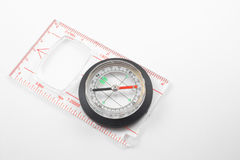 Compass. A magnetic compass for locating direction and bearings Royalty Free Stock Image