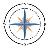 Compass. An illustration of a compass Royalty Free Stock Images