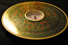 Compass. Feng shui terms - Compass Compass is operational tools were qi, mainly located in the center of the needle plate and a series of concentric circles Stock Photography