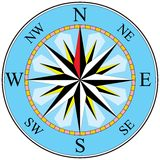 Compass. Illustration in vector lines royalty free illustration