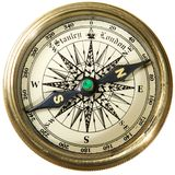 Compass. Vintage compass studio isotaion on white background Royalty Free Stock Photo