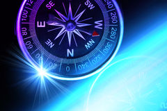 Compass. Composition for traveler, conceptual colorphoto, suitable also as a background image Stock Photo