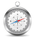 Compass. Metal compass on white background Royalty Free Stock Images