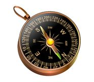 Compass. A single compass surrounded with white background Vector Illustration