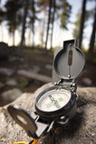 Compass. On rock, north, south, west, east Royalty Free Stock Photos