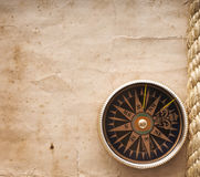 Compass. On the old paper background Royalty Free Stock Photography
